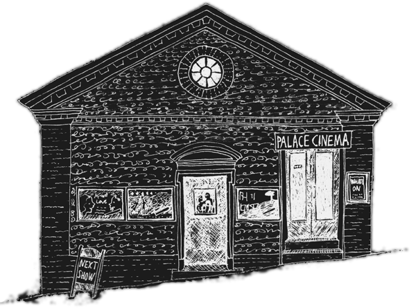 line drawing of The Palace Cinema